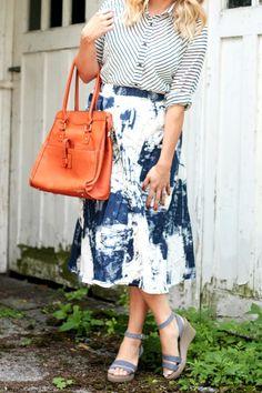 Blue Pattern Mixing | The Pretty Life Girls