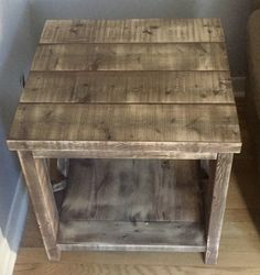 Custom Side Table Carpentry Projects, Dining Table, Rustic, Furniture, Home Decor, Country Primitive, Dining Room Table, Decoration Home, Rustic Feel