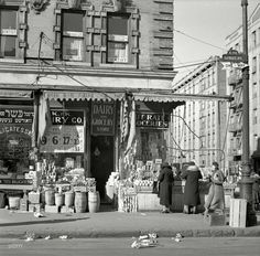 Bathgate Avenue in the Bronx. the K Grocery 1936.....I  used to  live in this  neighborhood when I was a kid back in the 1960's