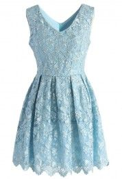 Fair Butterfly Embroidered Tulle Dress in Baby Blue