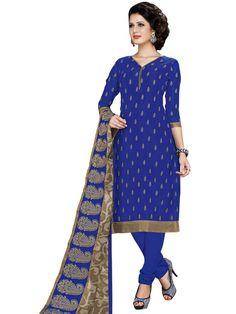 Splendid blue color Chanderi Kurta is embellished with Resham work. Item Code: SLAX3628