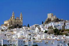 """Foto del giorno - Olvera (Cadiz, Costa de la Luz).  Un ottimo esempio di """"pueblo blanco"""". Olvera è uno dei tanti villaggi imbiancati a calce che punteggiano l'Andalucia offrendo un'atmosfera tipicamente mediterranea tra le stradine rimaste praticamente immutate per secoli..."""