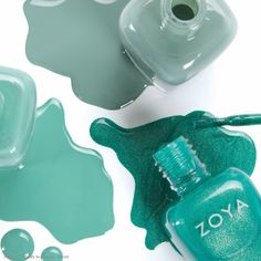 December Birthstone - Turquoise- Zoya Nail Polish in Bevin, Wednesday, and Zuza Hair And Nails, My Nails, Teal, Turquoise, Aqua, Blue Nail Polish, Manicure And Pedicure, Pedicures, Gorgeous Nails