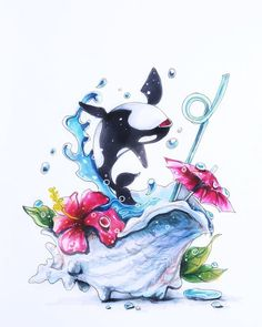 Our goal is to keep old friends, ex-classmates, neighbors and colleagues in touch. Beautiful Drawings, Cute Drawings, Food Sketch, Marker Art, Animal Drawings, Art Tutorials, Cute Art, Art Inspo, Cute Pictures