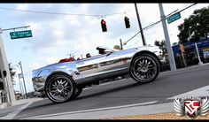 Over-The-Top Enough? Chrome-Wrapped Camaro on 32's - Autoholics #chevy #rice #lol #cars