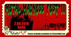 This Saturday at Club Live & Loud in Sofia: Metal Madness Fest 3 with Acid Scorn (RO), Slave Pit (BG), Zombie Attack (UKR) и Charda (BG). Get #Tickets / Вземи #билет за Metal Madness Fest 3: https://www.eTicketsMall.com