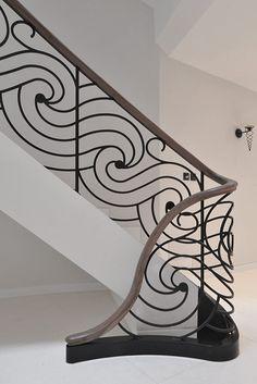Staircase - bespoke elliptical staircase with laser cut balustrade | Elite Metalcraft Co. Ltd