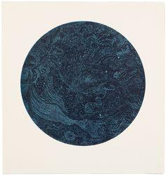 Constellations -  1, monotype sérigraphique sur papier, format 57 x 61 cm, 2008. - yannbagot