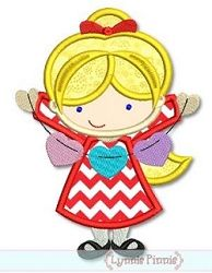 Valentine Girl Applique - 3 Sizes! | Valentine's Day | Machine Embroidery Designs | SWAKembroidery.com Lynnie Pinnie