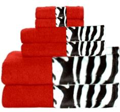 image detail for bath towels zebra red animals bordering africa towels - Red And Black Print Bath Towels