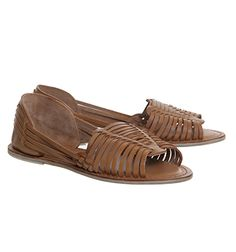 58b770581af0 Office Liquorice Woven Peeptoe Tan Leather - Flats