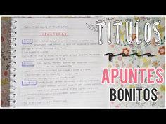 Apuntes Bonitos | Como hacer Titulos - YouTube
