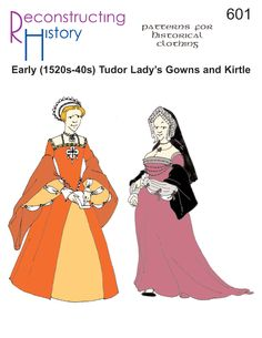 Make yourself the perfect lady's gown for the Northern Renaissance period of Henry VIII, Katherine of Aragon, Anne Boleyn and Jane Seymour with this pattern. Get our full size paper patterns for 1520s-1540s Tudor Lady's Gown based on pictorial references and the work of Ninya Mikhaila and Jane Malcolm-Davies in their book The Tudor Tailor. …