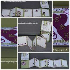 Stampin UP, Hochzeit, Dose , Karte, Tin Wedding Card, Simply Scrappin, Accordion Card