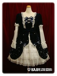 The collaboative ホシノナミダヒメワンピース/Hoshi no Namida Princess (one piece) Dress by Blythe (a doll company) Baby, The Stars Shine Bright (a top gothic lolita brand).