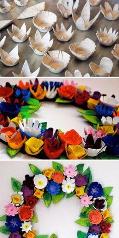 Maak je eigen bloemenkrans van een eierdoos. Ben je benieuwd hoe het werkt? Bestel dan de lente editie van Knutselfun op https://www.hobbyou.nl/winkel/kids/kids-tijdschriften/moestuintjes-voor-kids/