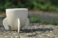 Rocket Espresso Cup 3D Printed in Ceramics