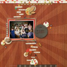 GoodStuff layout by DianePayne using Lily Bee Design Urban Autumn by Amy Heller  #lilybeedesign