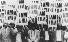 "1968 Memphis Sanitation Workers Strike.1300 Black sanitation workers went on strike in Memphis.Discontent had been building w/poor treatment, racism, & dangerous work conditions,& the deaths of their fellow workers Echol Cole & Robert Walker was the straw that broke the camel's back.The signs they held stating ""I Am A Man"" are now legendary both in the context of the Civil Rights Movement & in Labor History.Their statement,that they were men,was a radical reclamation of their identity & dignity."