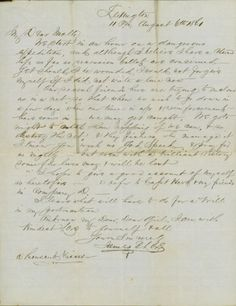 Letter from James to Molly, dated August 6, 1861. Missouri History Museum.