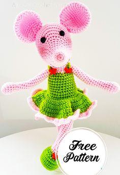 Sweet and Free Amigurumi Mouse Girl Crochet Pattern , amigurumi patterns free; amigurumi for beginners; Crochet Pattern Free, Crochet Patterns Amigurumi, Amigurumi Doll, Crochet Dolls, Amigurumi Minta, Crochet Mouse, Crochet Bunny, Crochet Unique, Animal Knitting Patterns