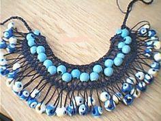 FİRKETE KOLYE Tatting Earrings, Lace Earrings, Lace Jewelry, Textile Jewelry, Jewelry Crafts, Hairpin Lace Crochet, Crochet Edgings, Crochet Motif, Crochet Shawl