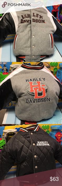 Harley Davidson reversible jacket Brand new Harley jacket. Never worn. I took the tags off and put it on my son ONE time and it lasted all of ten minutes. He absolutely HATES puffy jackets. If you have any questions please ask. Harley-Davidson Jackets & Coats Puffers