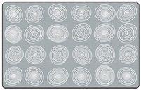 "Circles Grey and White 7'6"" x 12' Rug"