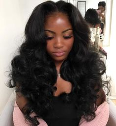 Long Middle Part Sew In