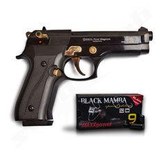 Schreckschusspistole Ekol Firat Magnum schwarz / gold 9mm P.A.K.   inklusive 50…