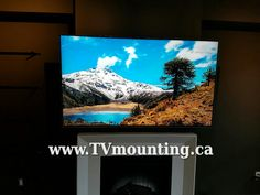 4k Ultra High Definition 65 Inch LG, Fireplace TV Installation Vancouver ,  TV Mounting Vancouver