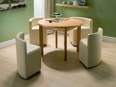 Space-Saving creative furniture design - dining table and chairs