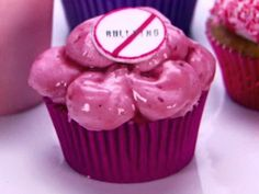 Anti-Bullying Dodge Ball Cupcakes, aka Peanut Butter and Jelly from FoodNetwork.com
