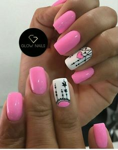 Summer Acrylic Nails, Aga, Nail Colors, Manicure, Projects To Try, Lily, Nail Art, Designed Nails, Polish Nails