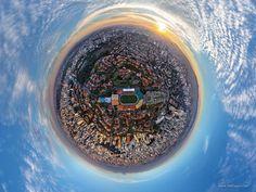 Essas 13 fotos aéreas mostram São Paulo como você nunca viu > 7. Estádio do Pacaembu