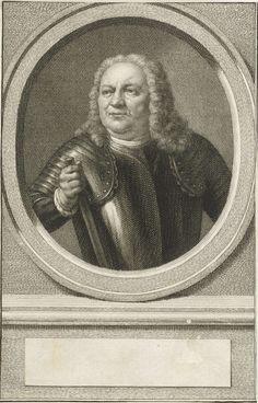 Jacob Houbraken | Portret van Hendrik Grave, Jacob Houbraken, Nicolaas Verkolje, 1747 - 1759 | Buste van Hendrik Grave in een ovaal. Het portret rust op een plint waarop een leeg veld voor zijn naam.