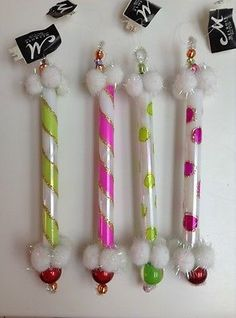 MELROSE CANDY STICK ORNAMENTS - SET OF 4 - NEW! GORGEOUS!!