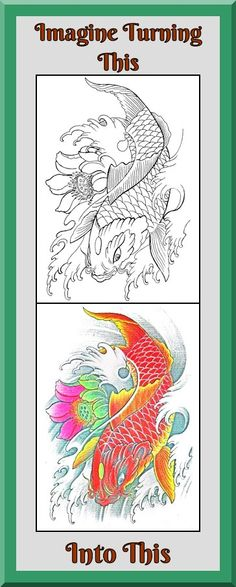 Coloring Book Pages Of Fish : Pin by súng Đyên on koi pinterest koi and tattoo