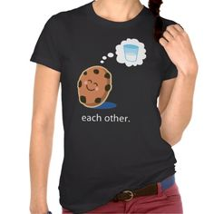 Couple Cute Milk and Cookies Her T-shirt