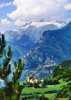 Paesaggio della Val d' Aosta, Italy