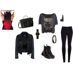 """""""Metal,Punk style"""" by larry69czech on Polyvore"""