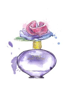 Lola Marc Jacobs perfume illustration. beautiful illustration, however I'm not 100% positive I love love the scent of 'Lola'......