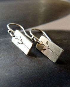 Trees Sterling silver earrings
