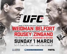 UFC 184 - we are looking forward to it. #TheSmartRope #Fitness #Boxing #Gym #MMA #Crossfit #UFC
