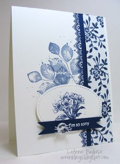 Stamps: Avant Garden, Kinda Eclectic, Timeless Textures, Delicate Details, Teeny Tiny Wishes. CS: WW, Night of Navy, Floral Boutique DSP. Ink: Night of Navy, White Twine, Faceted Buttons. Stitched Shapes Dies, Nestability Banner Dies, White EP, Dimensionals.