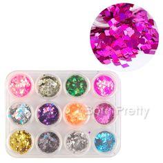 pretty nail glitter @BornPrettyStore, 12 Colors 2mm colorful Shiny Tiny Glitter Pow... at USD $6.99. http://www.bornprettystore.com/-p-7314.html