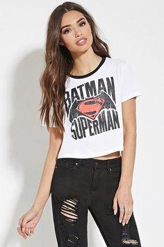 f593bbd5b Batman Superman Graphic Tee ($15) Batman Vs Superman, Batman Shirt,  Superhero Fashion