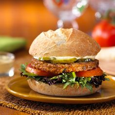 Morningstar Farms® Parmesan-Mustard Topped Burger