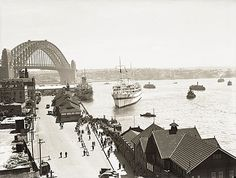 "The hospital ship ""Wanganella"" berthing at Circular Quay Sydney  Dated: January 1940"