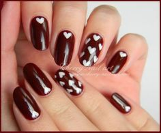 Chic simple and romantic nails Cherry Nail Art, Romantic Nails, Holiday Nails, Valentines, Carpets, Journal, Chic, Simple, Photos